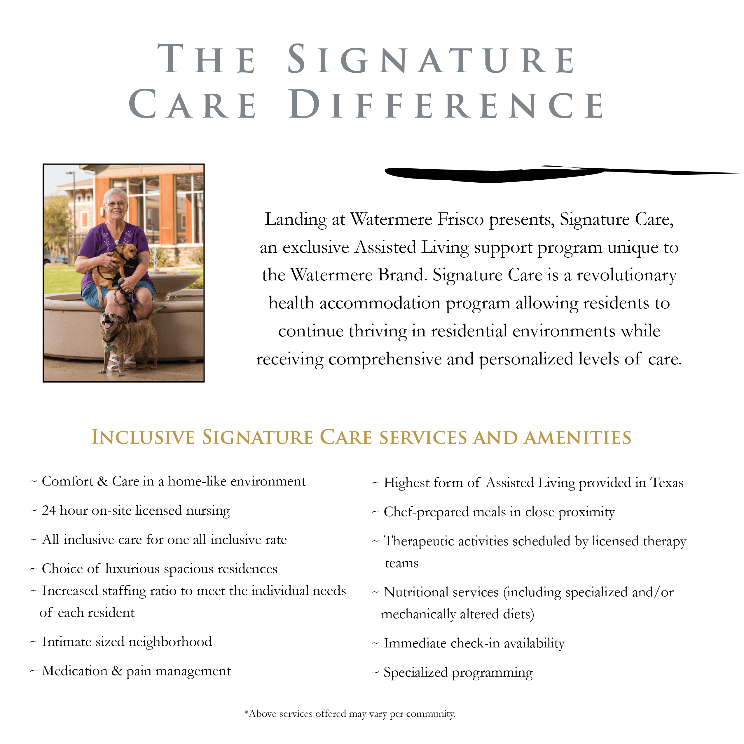 The Signature Care Difference