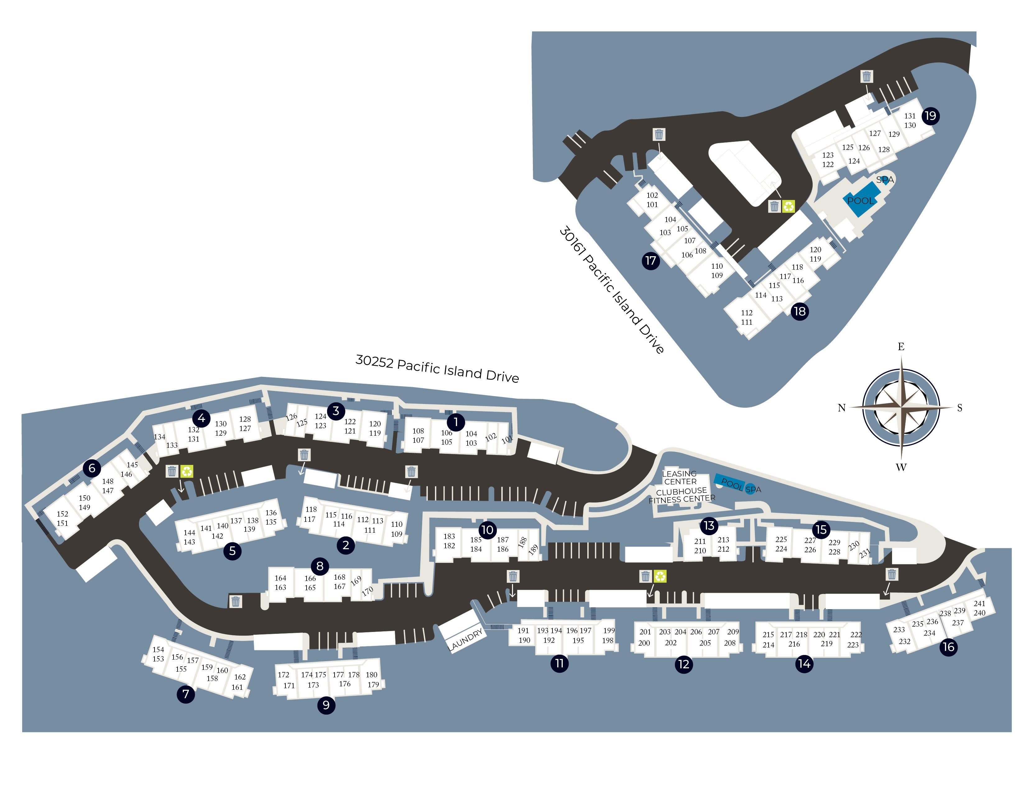 View a map of our property at Niguel Summit Condominium Rentals in Laguna Niguel, California