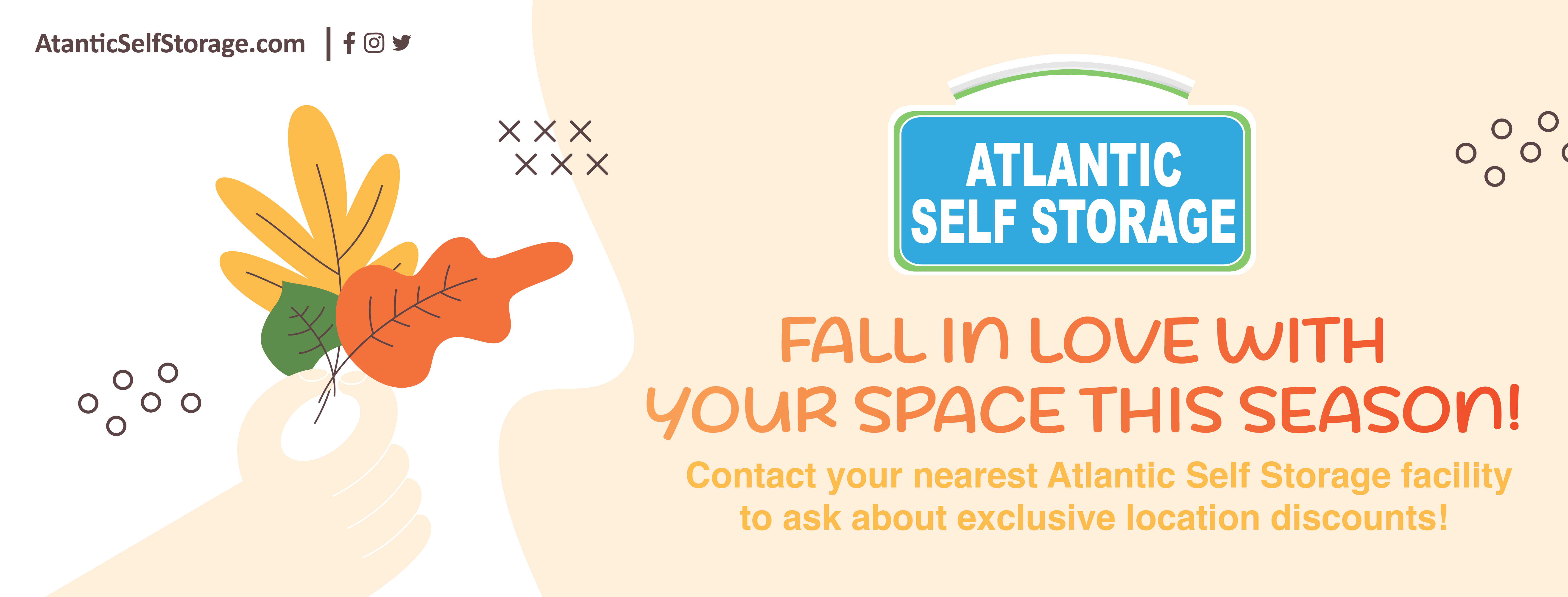 Fall sale at Atlantic Self Storage in Jacksonville, Florida