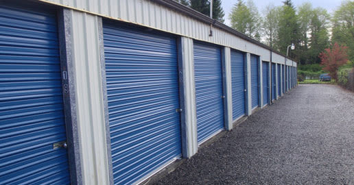 Roll-up doors at ABC Mini Storage in Aberdeen, Washington