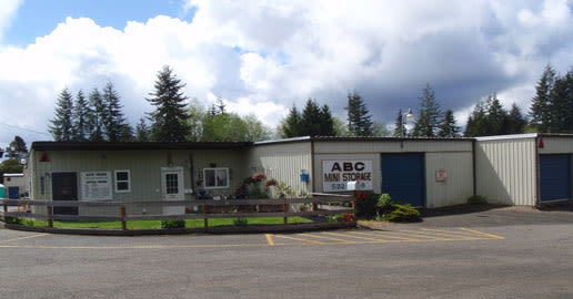 Entrance to ABC Mini Storage in Aberdeen, Washington