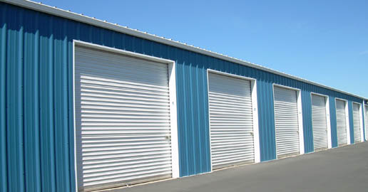 Roll-up doors at ABC Mini Storage in Spokane, Washington