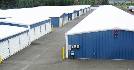 Drive-up units at ABC Mini Storage in Spokane, Washington