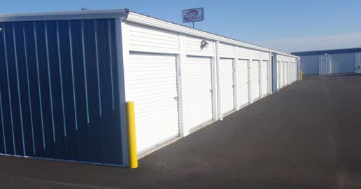 Drive-up storage at ABC Mini Storage in Spokane Valley, Washington
