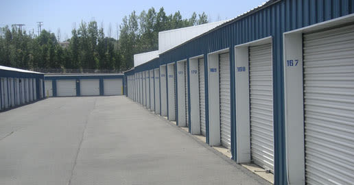 Wide driveways at ABC Mini Storage in Spokane Valley, Washington