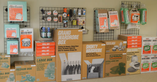Supplies for sale at ABC Mini Storage in Richland, Washington