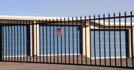 Entrance gate at ABC Mini Storage in Pacific, Washington