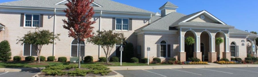 Exterior shot of Delaney Apartment Homes in Concord