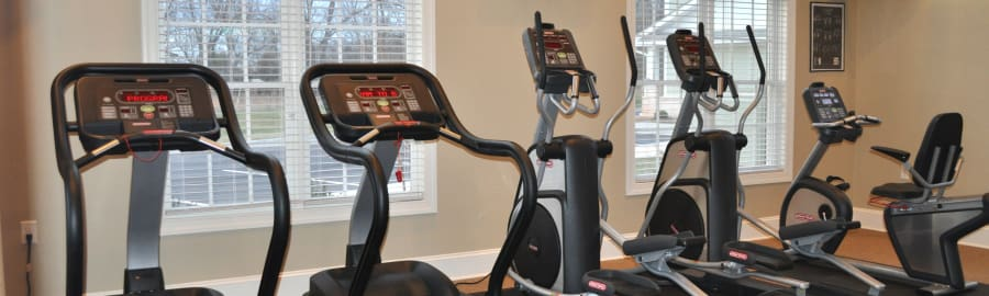 Fitness area at Delaney Apartment Homes in Concord
