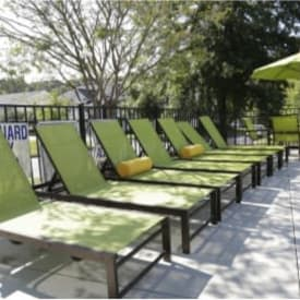 Poolside seating at The Gallery