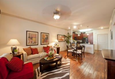 Interior photo of one of the spacious apartment homes at Villas at Bunker Hill