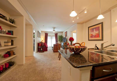 Beautifully designed model apartment home at Villas at Bunker Hill