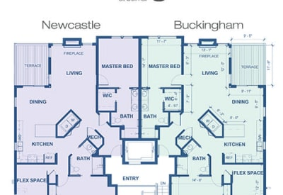 Learn more about our Newcastle & Buckingham independent living floor plan options at Village at Belmar