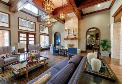 Gorgeously decorated clubhouse at Hilltops in Conroe, Texas