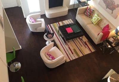 Upstairs view of living room at The Park at Ashford in Arlington, Texas