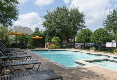 Enjoy a refreshing swimming pool at The Park at Ashford in Arlington, Texas