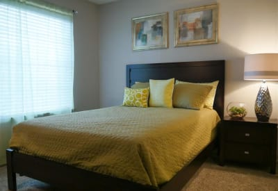 Cozy bedroom at Trails of Towne Lake in Irving, Texas