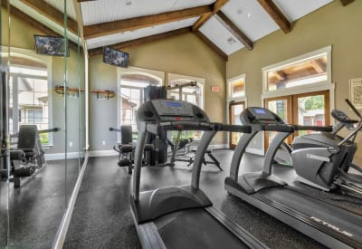 Stay healthy in the Village Green of Bear Creek fitness center in Euless, Texas