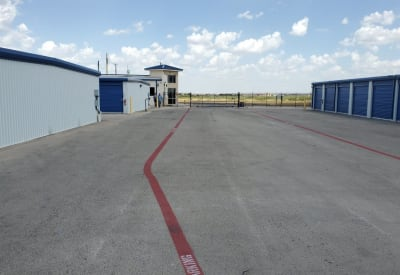Ultra-wide driveways and aisles make RV and boat storage easy at Advantage 52nd Odessa in Odessa, Texas