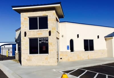 Exterior view of the leasing office at Advantage 52nd Odessa in Odessa, Texas