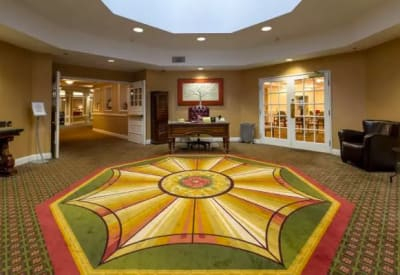 Interior view of Mattison Crossing at Manalapan Avenue lobby in Freehold, New Jersey.