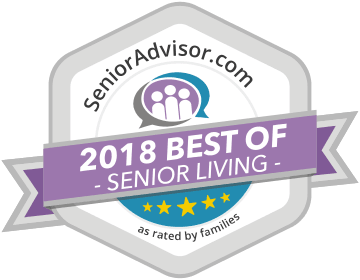 2018 best of senior living award for Chestnut Knoll in Boyertown, PA