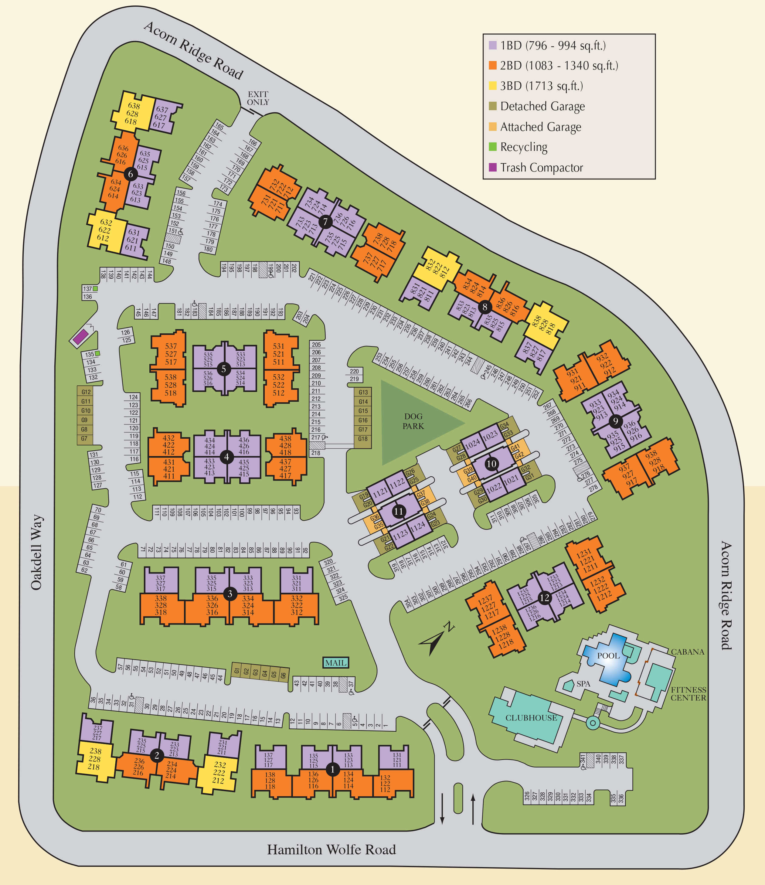 Site map of Villas at Medical Center in San Antonio, TX