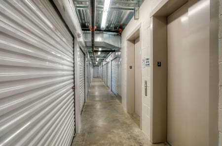 Interior hallways view at StorQuest Self Storage in Tampa