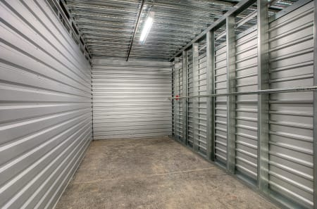 Interior view of large storage unit at StorQuest Self Storage