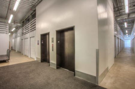 Elevators make moving in and out of your storage unit a snap at StorQuest Self Storage