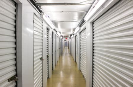Bright and Clean Interior Storage Units at StorQuest Self Storage in Kyle, TX