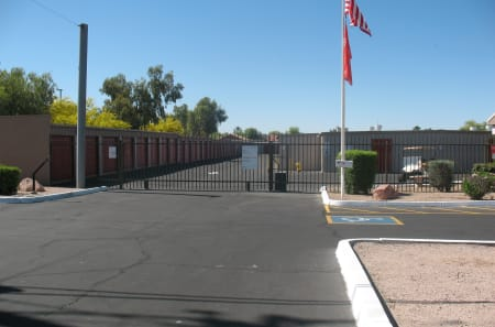 Front entrance at StorQuest Self Storage in Apache Junction, AZ