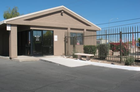 Gated entrance at StorQuest Self Storage in Apache Junction, AZ