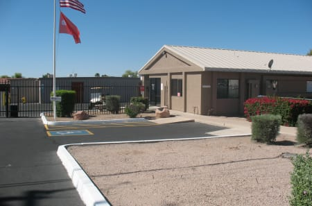Store front at StorQuest Self Storage in Apache Junction, AZ