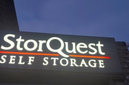 Facility sign of StorQuest Self Storage in Arvada, Colorado