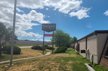Sign of StorQuest Self Storage in Arvada, Colorado