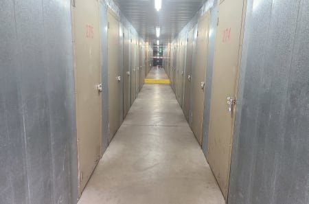 Interior storage units of StorQuest Self Storage in Arvada, Colorado