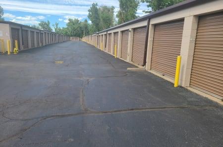 Outdoor storage units of StorQuest Self Storage in Arvada, Colorado