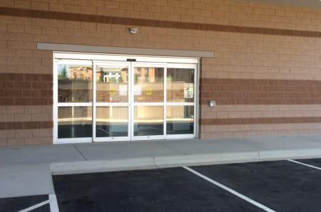 Sliding glass doors at StorQuest Self Storage in Littleton