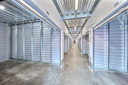Inside view of self storage units in Shirley