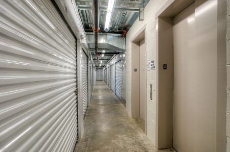 Interior storage hallway at StorQuest Express - Self Service Storage in Woodland