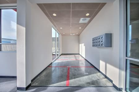 Hallway at StorQuest Express - Self Service Storage in Sacramento, California.