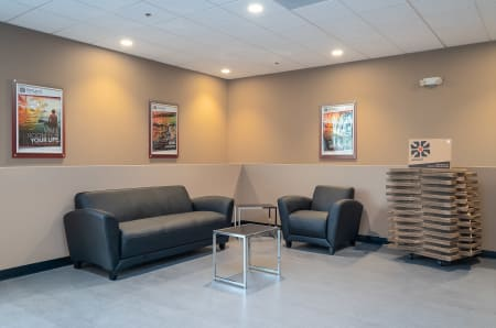Sitting area at StorQuest Self Storage in Gardena, CA