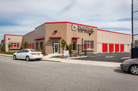 Front entrance at StorQuest Self Storage in Long Beach, NY