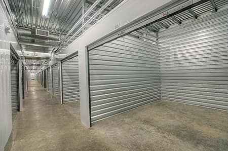 Indoor storage units at StorQuest Self Storage in Paramount, California