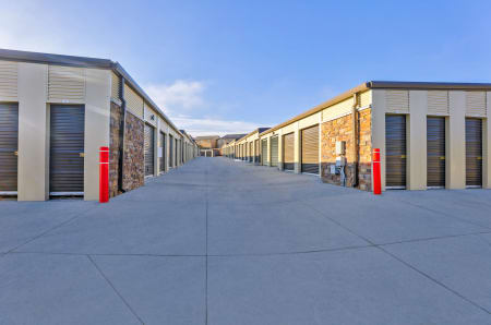 Exterior units at StorQuest Self Storage in Aurora, CO