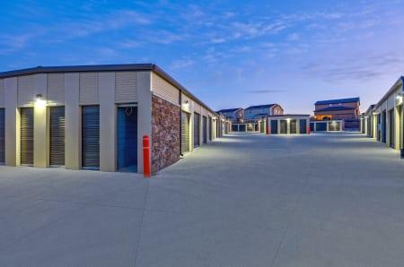 Exterior units twilight at StorQuest Self Storage in Aurora, CO