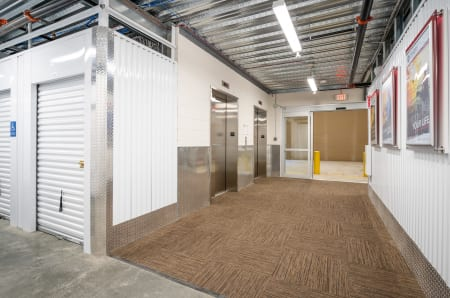 Elevators inside at StorQuest Self Storage in West Babylon, New York