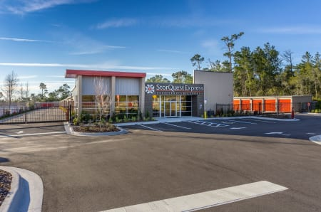 Store front at StorQuest Express - Self Service Storage in Kissimmee, Florida