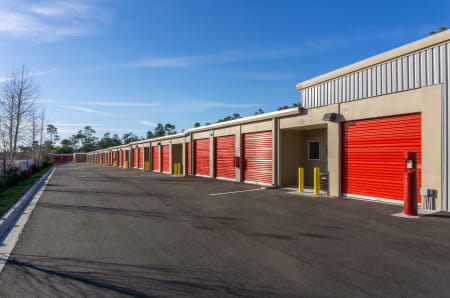 Exterior units at StorQuest Express - Self Service Storage in Kissimmee, Florida